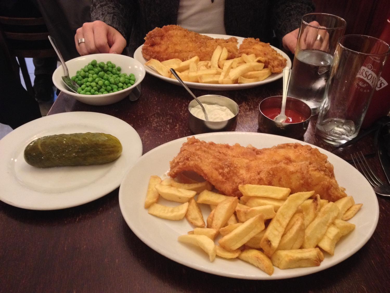 Un bon fish'n'chips au Golden Hind - Londres, Angleterre