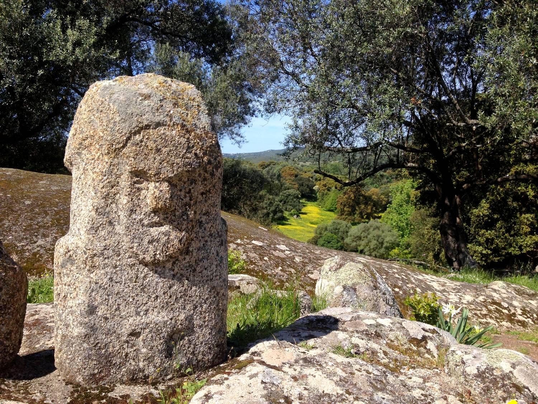 Anthropomorphic stone in Filitosa - Corsica, France
