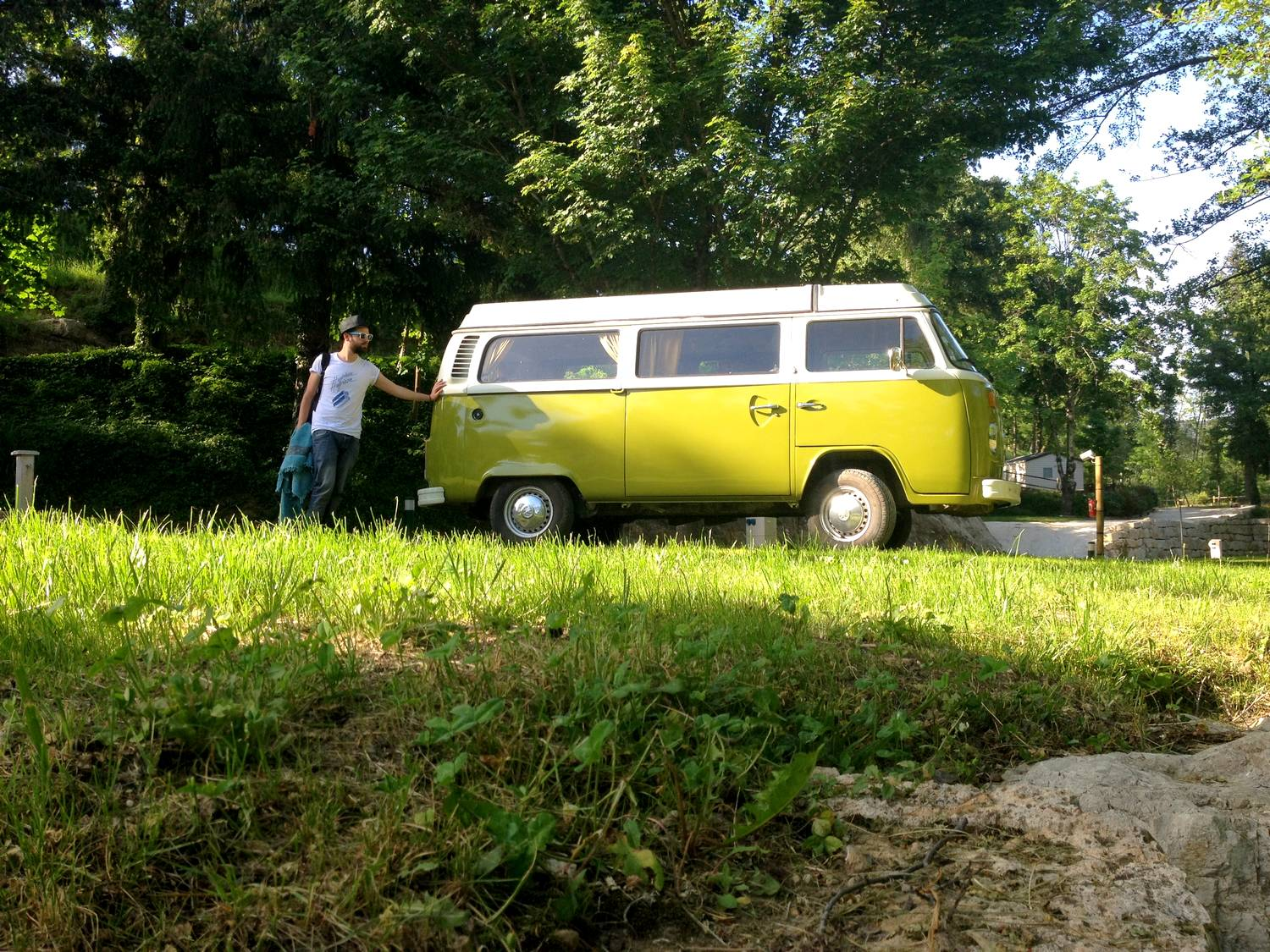Seb and Scooby, the CevVan van - Salendrinque camping site, France