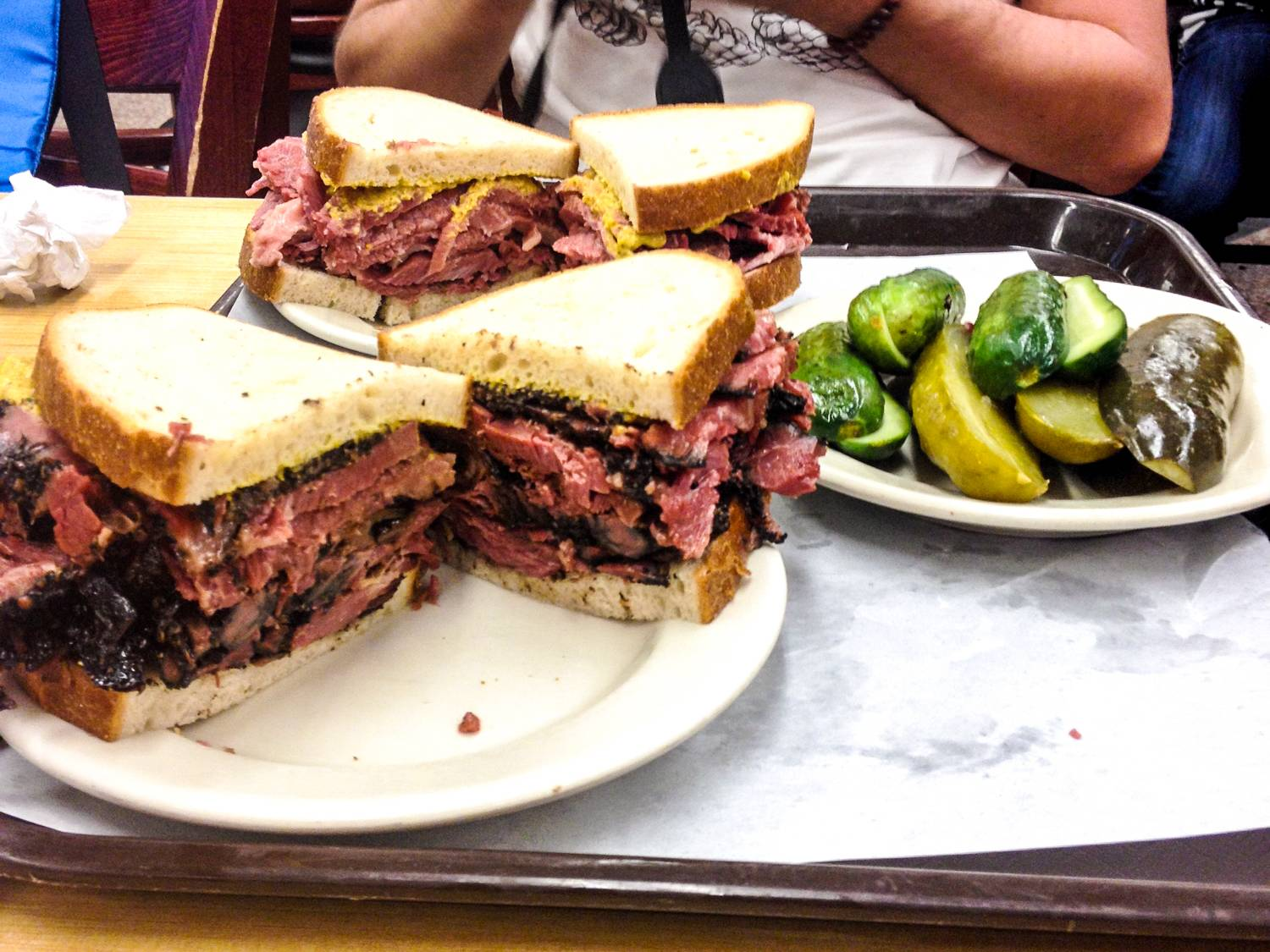 Delicious sandwiches from Kat'z Delicatessen - New York City, USA