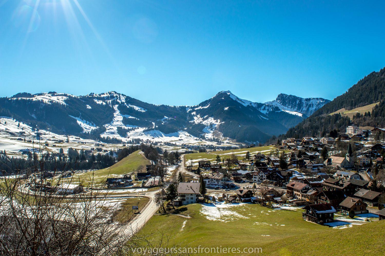 View over Château d'Oex - Switzerland
