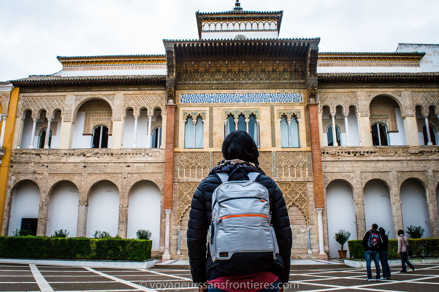 Nath with the Hedgren Junction at the Real Alcazar - Seville, Spain