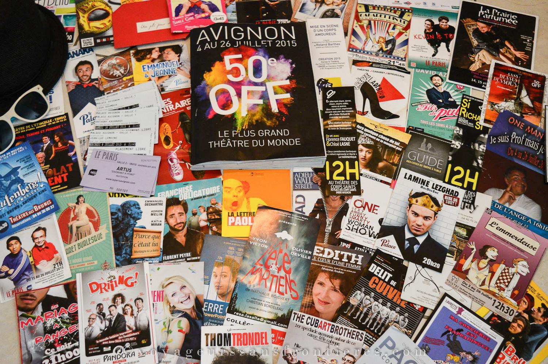 All our flyers from the 2015 Avignon Festival - Avignon, France